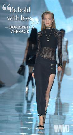 Versace RTW Spring 2015 [Photo by Davide Maestri]