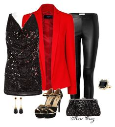 Holiday Office Party by keri-cruz on Polyvore featuring polyvore fashion style GUESS MANGO Burberry Charlotte Russe Dorothy Perkins Juicy Couture Syna