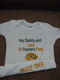 Green Bay Packers Football Baby Infant Newborn Onesie creeper Short or long Sleeves Daddy Mommy Uncle Aunt Embroidered Packers Baby, Packers Football, Football Baby, Lsu, Green Bay Packers Fans, Newborn Onesies, Go Pack Go, Toddler Girl Outfits, Baby Outfits