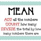 Includes: 4 colorful posters of mean, mode, median, and range  Simple language with step by step explanation of each math operation....
