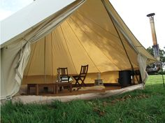 We are in absolute love with the Bell Tent ($680). If you're in England, you can rent them, too.