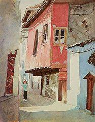 Audrey in the Citadel (Mineke Reinders) Tags: city urban turkey watercolor painting citadel kale ankara oldcity kokoronofanfare