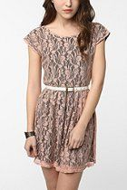 Urban Renewal Lace & Jersey Gibson Dress  #UrbanOutfitters