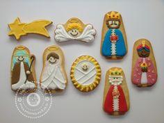 Belén hecho con galletas, ideal!!