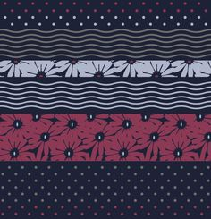 """Flower,pois and flower""textile Pattern licensing design © Concetta Lorenzo   With TheColorSoup you can choose my Graphics for your Personalized textiles online: find your favorite!"