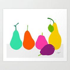 Pear Art Print by Pragya Kothari Inc - $18.00
