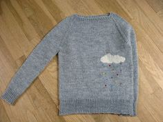 Ravelry: camark4177's happy little cloud Love this idea - duplicate stitch raindrops!