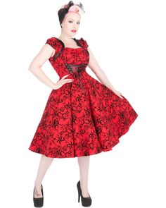 Charmant Dress in Red by Hearts & Roses, London - Tragic Beautiful buy online from Australia