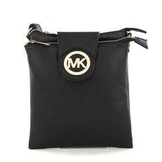 #bags Michael Kors Fulton Pebbled Large Black Crossbody Bags. Im in love!