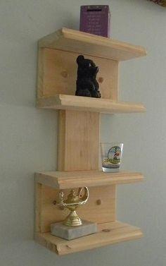 Retro mini wall shelf: