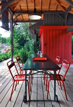 La salle à manger extérieure