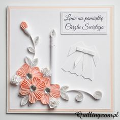 Dla Lenki - quilling, greeting card, handmade card Quilling Craft, Quilling Designs, Paper Quilling, Quilling Birthday Cards, Diy Earrings, Art Tips, Cool Cards, Baby Cards, Hobbies And Crafts