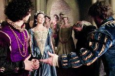 The Tudors - Anne Boleyn + walking through court
