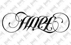 faith hope asymmetrical ambigram - totally getting this <3