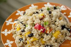 Mango Black Bean Quinoa Salad      Sounds awesome minus the feta