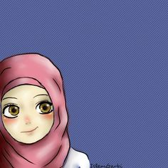 Hijab girl by isyislem on DeviantArt Islamic People, Muslim Pictures, Islam Marriage, Islamic Cartoon, Anime Muslim, Hijab Cartoon, Islamic Girl, Cartoon Sketches, Girl Hijab