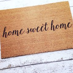 Home Sweet Home Welcome Mat / Doormat Door Mat Gift by LoRustique