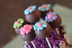 Candy Flower cake pops sweet works