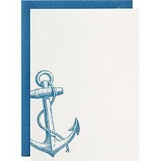 nautical stationery...I love sending cards.