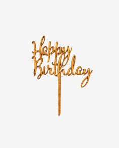 "Top your birthday cake with something special! Cute and stylish, this ""Happy Birthday"" cake topper is the ideal accessory for your width x height (excluding stem) MDF wood finish Made in South Africa Happy Birthday Cake Topper, It's Your Birthday, Party, Collection, Fiesta Party, Parties"