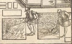 1594 edition of Thomas Hill's The Gardener's Labyrinth - hats, shoes, middling or peasant? 16th Century Fashion, 17th Century, 1500s Fashion, Full Skirts, European Fashion, Fashion History, Costume Design, Westerns, Vintage World Maps