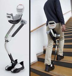Honda Makes Public New Robotic Walking Assist Device. Honda is clearly committed to robotic assist devices for the elderly and patients with neurological disorders as they announce their second iteration of a walking assist machine that automatically adds strength into patient's step. Looking back on the last version, Honda went ahead and extended the concept in the new device to help with lifting of the legs, and supporting of body weight, not just adding energy to the step at the hip.
