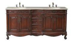 72 Inch Double Sink Bathroom Vanity in Antique Cherry
