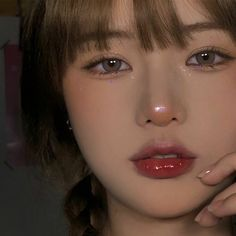 Makeup Inspo, Makeup Art, Makeup Inspiration, Beauty Makeup, Hair Makeup, Makeup Eyes, Korean Natural Makeup, Korean Makeup Look, Cute Makeup