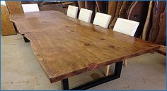 Beautiful Live Edge Wood Slab Dining Table - countermoon.org/...