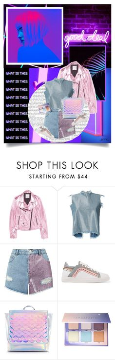 """Good Deal."" by lascaux on Polyvore featuring moda, Neon Mfg., MANGO, Marques'Almeida, Miss Selfridge, Sophia Webster y Anastasia Beverly Hills"