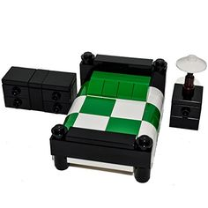LEGO Furniture: Bedroom Set w/ Dresser, Nightstand and Lamp (Green) ** Check this awesome product by going to the link at the image.