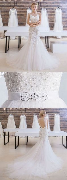 Gorgeous Wedding Dress, Lace Bridal Dress, Open-Back Wedding Dress, LB0796#weddingdress #weddingdresses