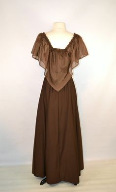 1970s Chocolate Brown Off The Shoulder by KrisVintageClothing