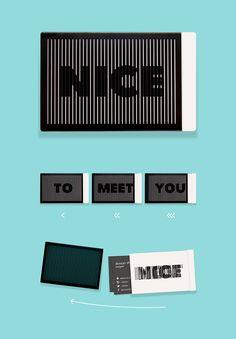 Nice To Meet You Card Case by British designer Duncan Shotton