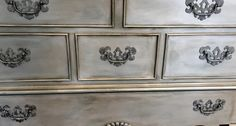 chalk paint® by annie sloan in duck egg followed by pearl plaster and dark wax.  |www.creativefinishesstudio.com|