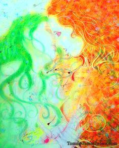 SEASONS Spring kisses autumn.