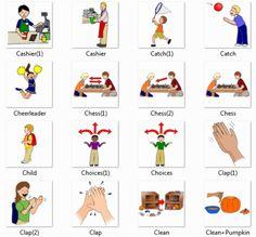 Cashier, Catch, Cheerleader, Chess, Child, Choices, Clap, Clean, Clean Pumpkin