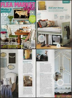 Chalk Paint® decorative paint by Annie Sloan has been featured in the Winter Edition of Flea Market Style magazine!