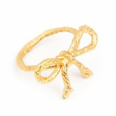 String Bow Ring - Jewellery - I Love a Lassie Gold Jewelry, Jewelry Rings, Jewellery, Yellow Gold Rings, Rose Gold, Bows, My Love, Stuff To Buy, Accessories