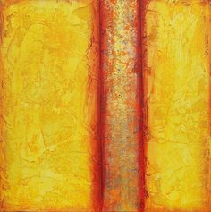 Abstract acrylic painting modern original fine art Textured yellow gold Acrylic on canvas Titled..Golden Path 2..size.18X18 By Ava Avadon