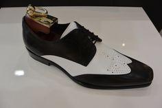 New Handmade Men spectator shoes, Men black and white dress shoes, Men formal sh - Dress/Formal