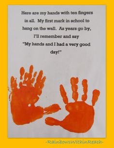 teacher gifts for preschoolers graduating | ... poem for preschool, handprint rhyme for kindergarten graduation