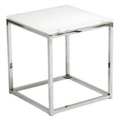 Euro Style Sandor Side Table - 28032PUREWHT