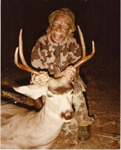The archery hall of fame ann clark with her first mule deer