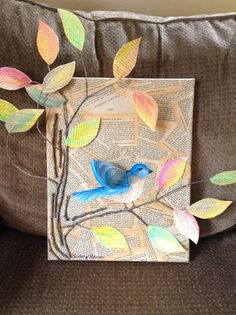 Book art bluebird