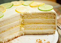 lemon chiffon cake, Meyer lemon curd, Meyer lemon buttercream, and limoncello simple syrup | use real butter