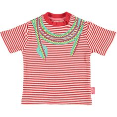 Striped colourful bright red Snake T-shirt girls boys front