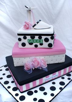 Box of Gucci Shoes Cake by Verusca's Cake, via Flickr
