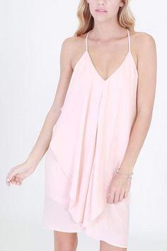 Deep V-Neck Flowy Dress