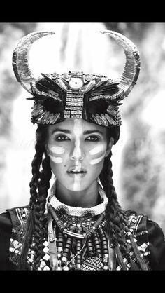 #beauty#fashion#tribal#francescomarongiu#fashionisto#white makeup and hair by me